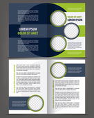 Vector empty bifold brochure print template flat design — Vector de stock