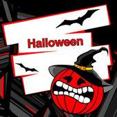 Halloween invitation or background. — Stock Vector
