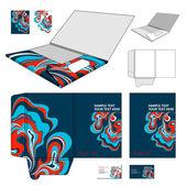 Folder design template. — Stock Vector