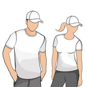 T-shirts men and women. — Stock Vector