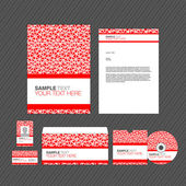 Business identity template. — Stock Vector