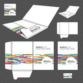 Folder design template. — Vettoriale Stock