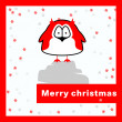 Merry christmas card. — Stock Vector