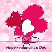 Sevgililer Günü kalpleri. — Stok Vektör