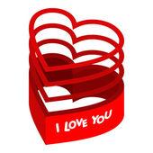 Valentinstag herzen. — Stockvektor