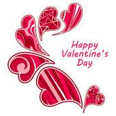 Valentine's day hearts. — Stock Vector