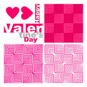 Seamless valentine background. — Stock Vector
