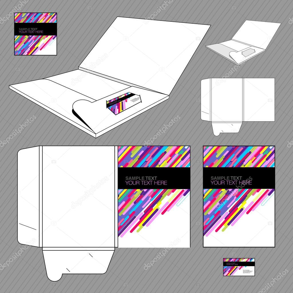 folder design template stock vector loca 16818885. Black Bedroom Furniture Sets. Home Design Ideas