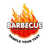 Barbecue label. — Stock Vector