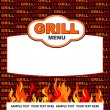 Grill menu design. — Stockvectorbeeld