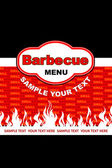 Barbecue menu design. — Stock Vector
