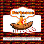 Barbecue label design. — Stock Vector