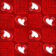 Vector valentine seamless background. — Grafika wektorowa