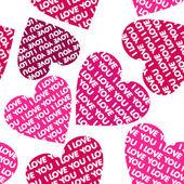 Valentine seamless background. — Stock Vector