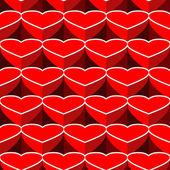 Fondo de corazones de corazón — Vector de stock