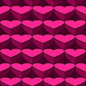 Hjärtan bakgrund från hjärtat — Stockvektor