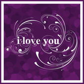 I love you background — Stock Vector