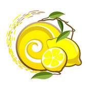 Lemon label. — Vector de stock
