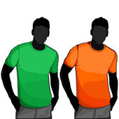 T-shirt men back and front — Stock Vector