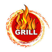 Grill label — Stock Vector