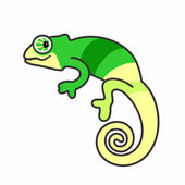 An illustration of chameleon — Stock Vector