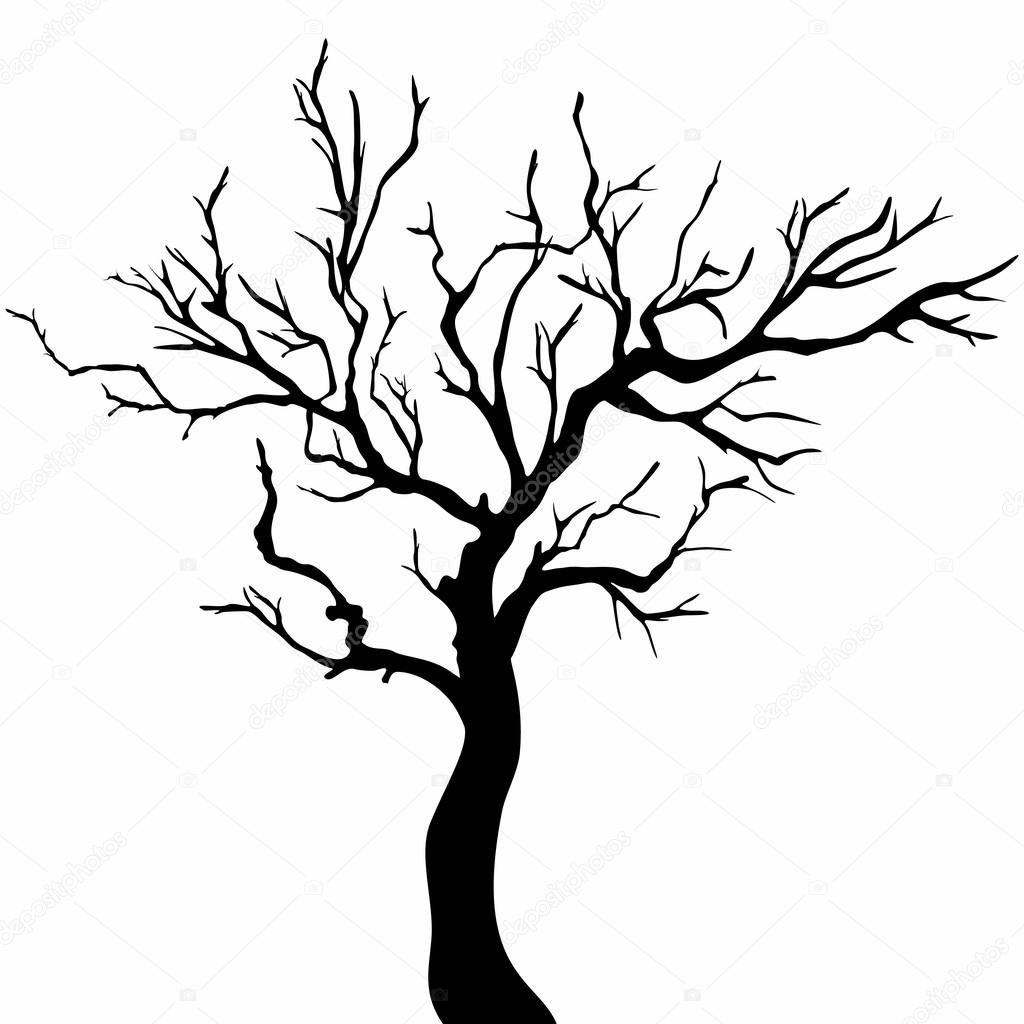Рисунок сухих деревьев