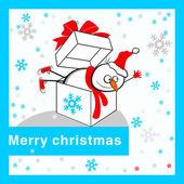 Merry christmas card. — Stock Vector