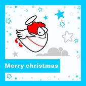 Merry xmas card. — Stockvector