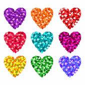 Día de san valentín corazones — Vector de stock
