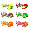 Fruit labels — Stock Vector