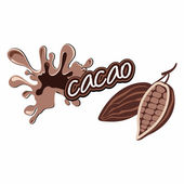 Cacao label design — Stock Vector