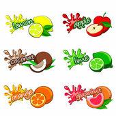 Fruit labels — Stock Vector