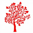Stock Vector: Valentines day tree.