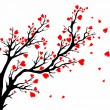 Valentines day tree. — Stock Vector #40374843