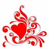 Composición de san valentín de los corazones. — Vector de stock