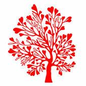 Árbol del día de San Valentín. — Vector de stock