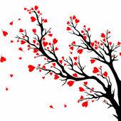 Valentines day tree. — Stock Vector