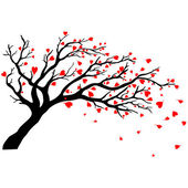 Valentines day tree. — Stock Vector