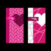 Valentines day card. — Vector de stock