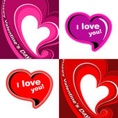 Valentines day card. — Stock Vector