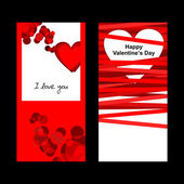 Valentines day card. — Stockvector