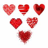 バレンタインの日の心. — ストックベクタ