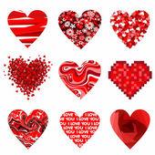 Saint Valentin coeur. — Vecteur