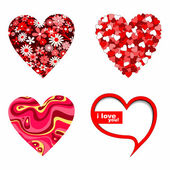 Valentines day hearts — Vector de stock