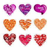 Cuori di san valentino — Vettoriale Stock