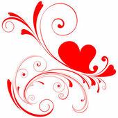 Valentines day hart — Stockvector