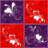 Valentines day hearts — Stock Vector