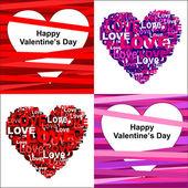 Alla hjärtans dag hjärtan — Stockvektor
