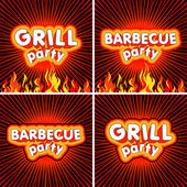 Barbecue label set — Stock Vector