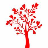 Alla hjärtans träd — Stockvektor
